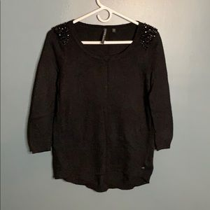 Guess black embellished sweater